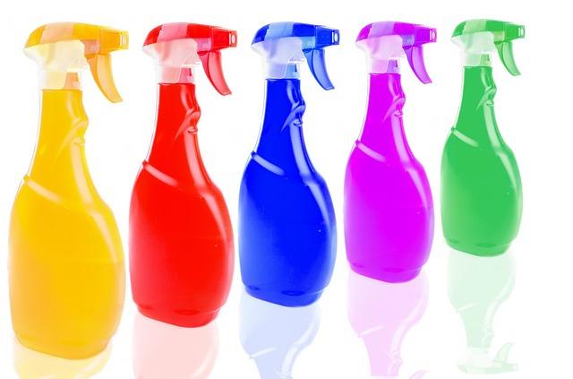 barevné rozprašovače